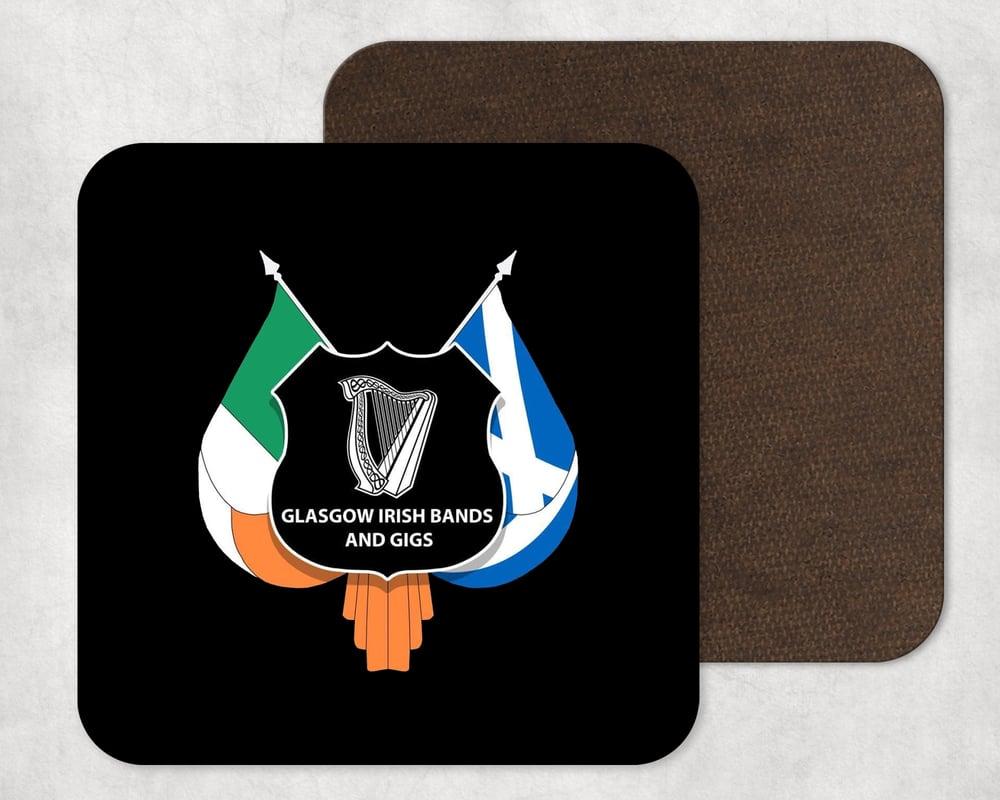 Glasgow Irish Bands & Gigs Coaster Type 2