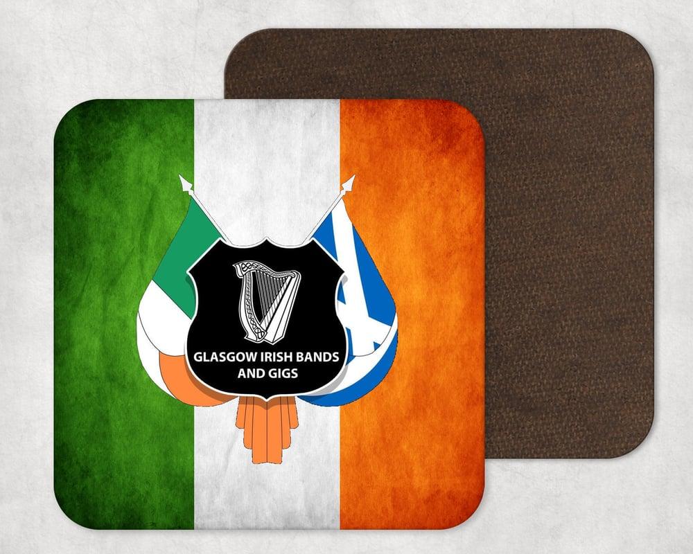 Glasgow Irish Bands & Gigs Coaster