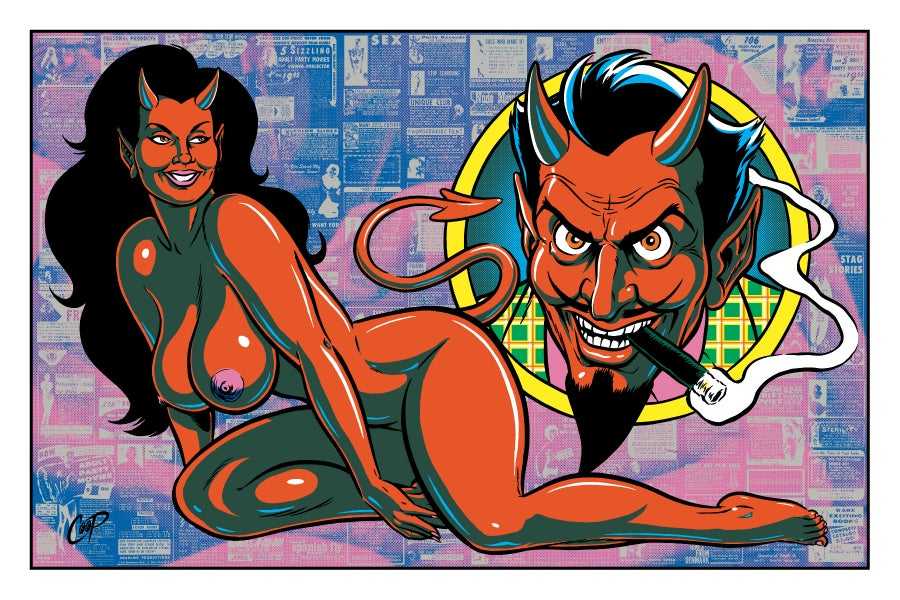 "Image of DEVIL SUCCESS 20"" x 30"" Silkscreen Print"