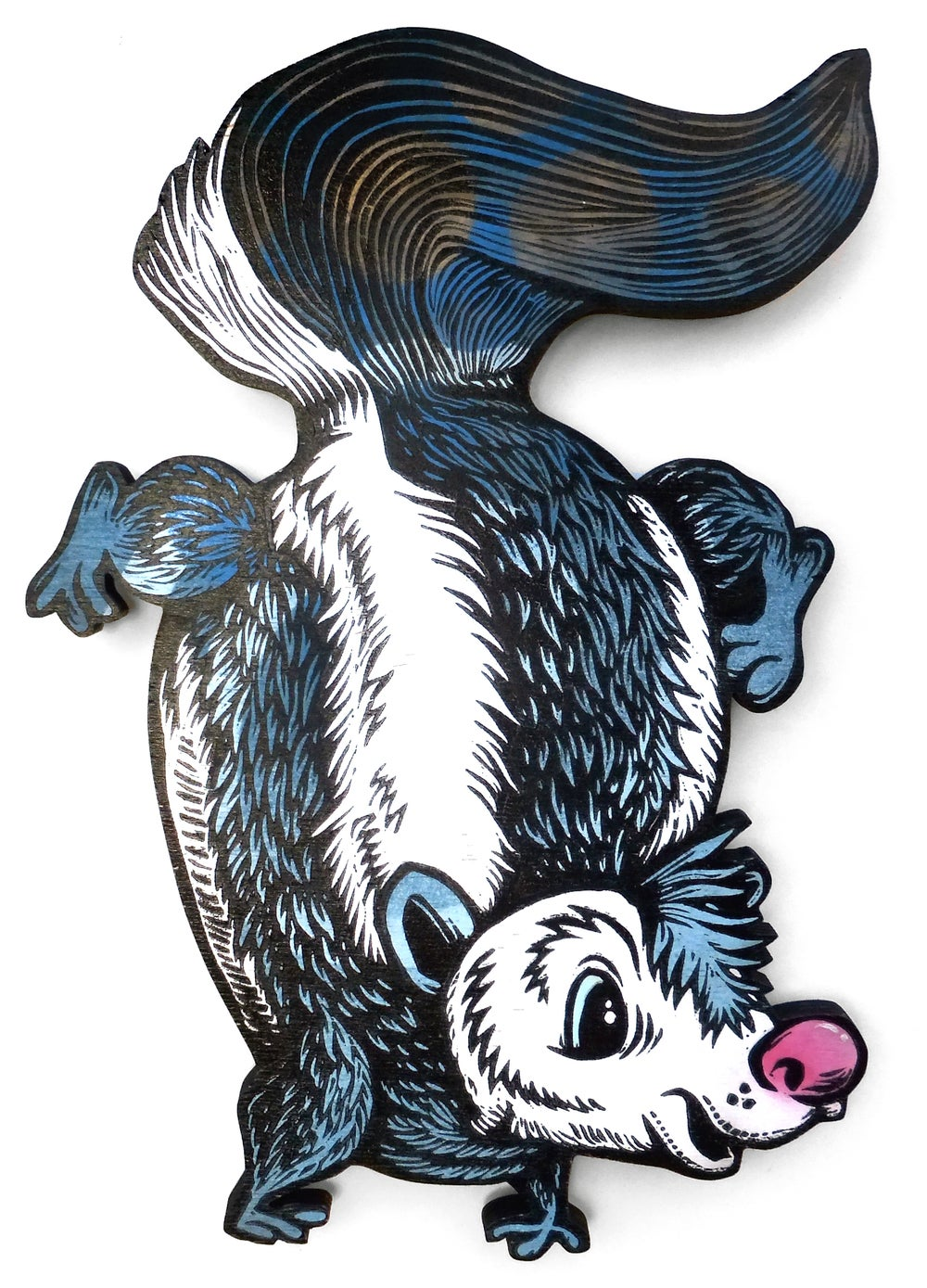Skunk Print on Wood **FREE SHIPPING**
