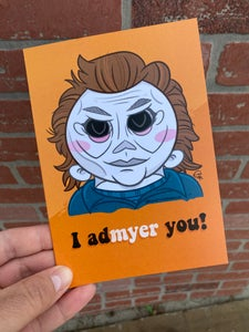 "Image of ""I admyer you"" Valloween Card"