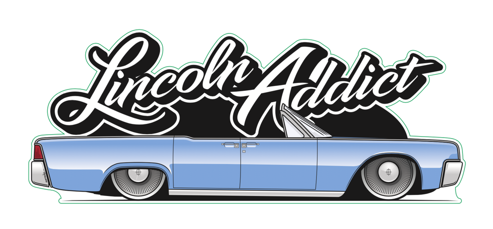 Image of Smuggler's Blues Lincoln Addict Sticker