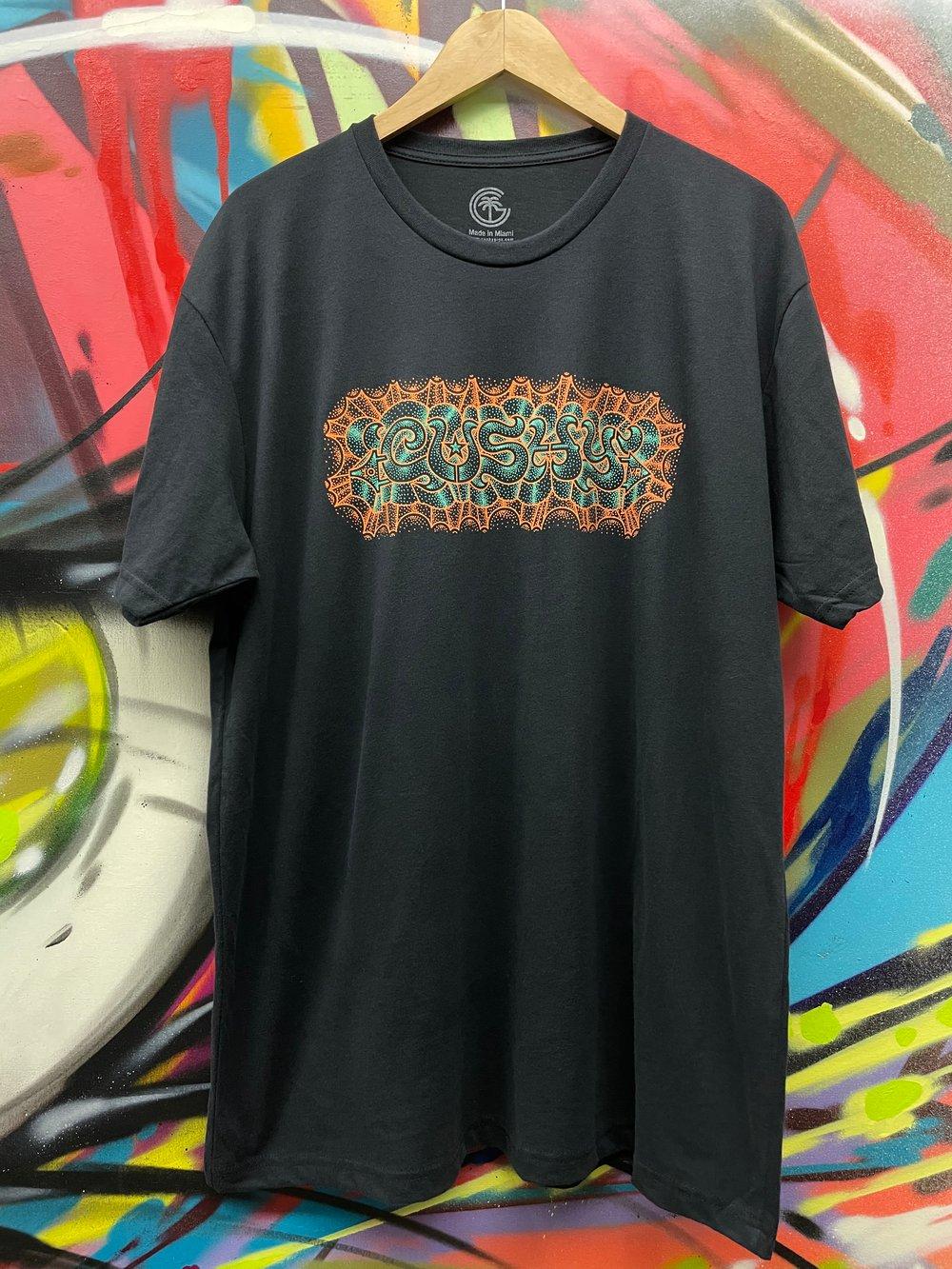 Image of Cushy 10 Year Shirt Blk/Orange/Seafoam