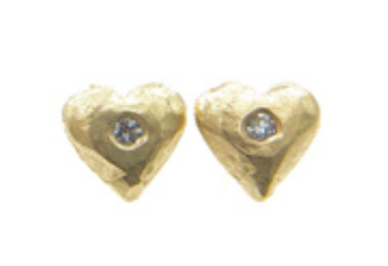 Image of Tiny 14 kt and diamond studs (multiple styles)