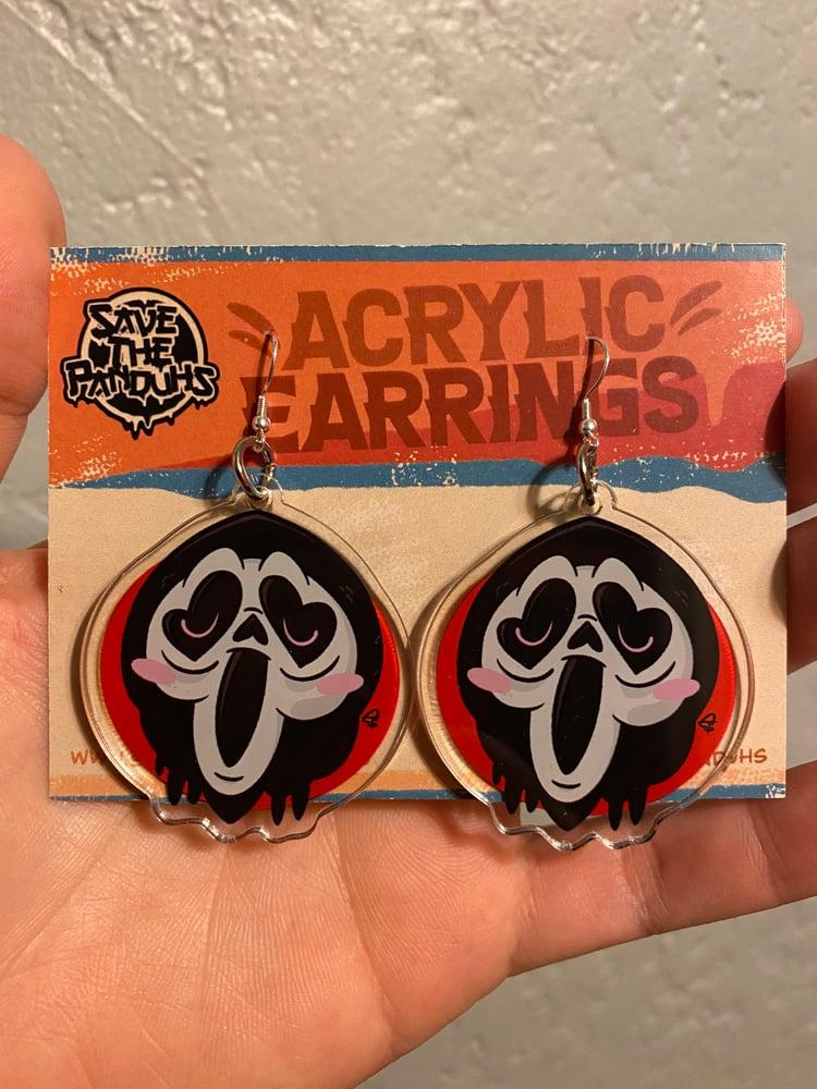 """Image of Ghosty 2"""" Acrylic Earrings"""