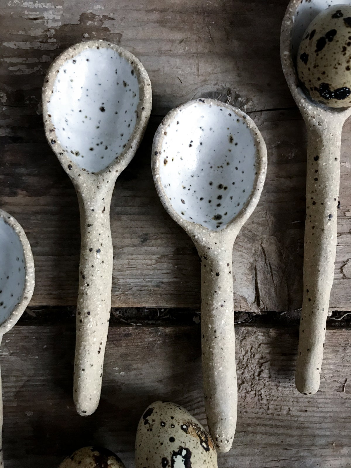 Image of Speckled tea spoon