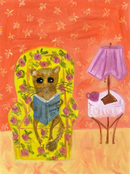Image of Hazel was the rare dormouse who suffered from winter insomnia. Limited edition print.