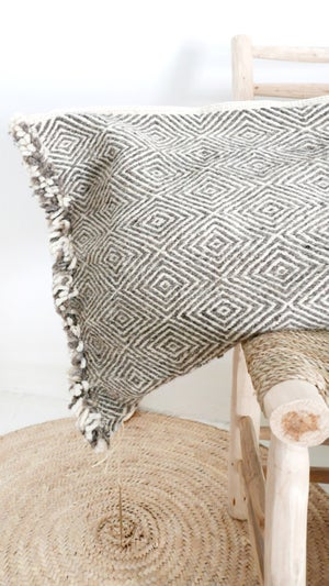 Image of Giant Moroccan Kilim Wool Floor Cushion - Shadoui
