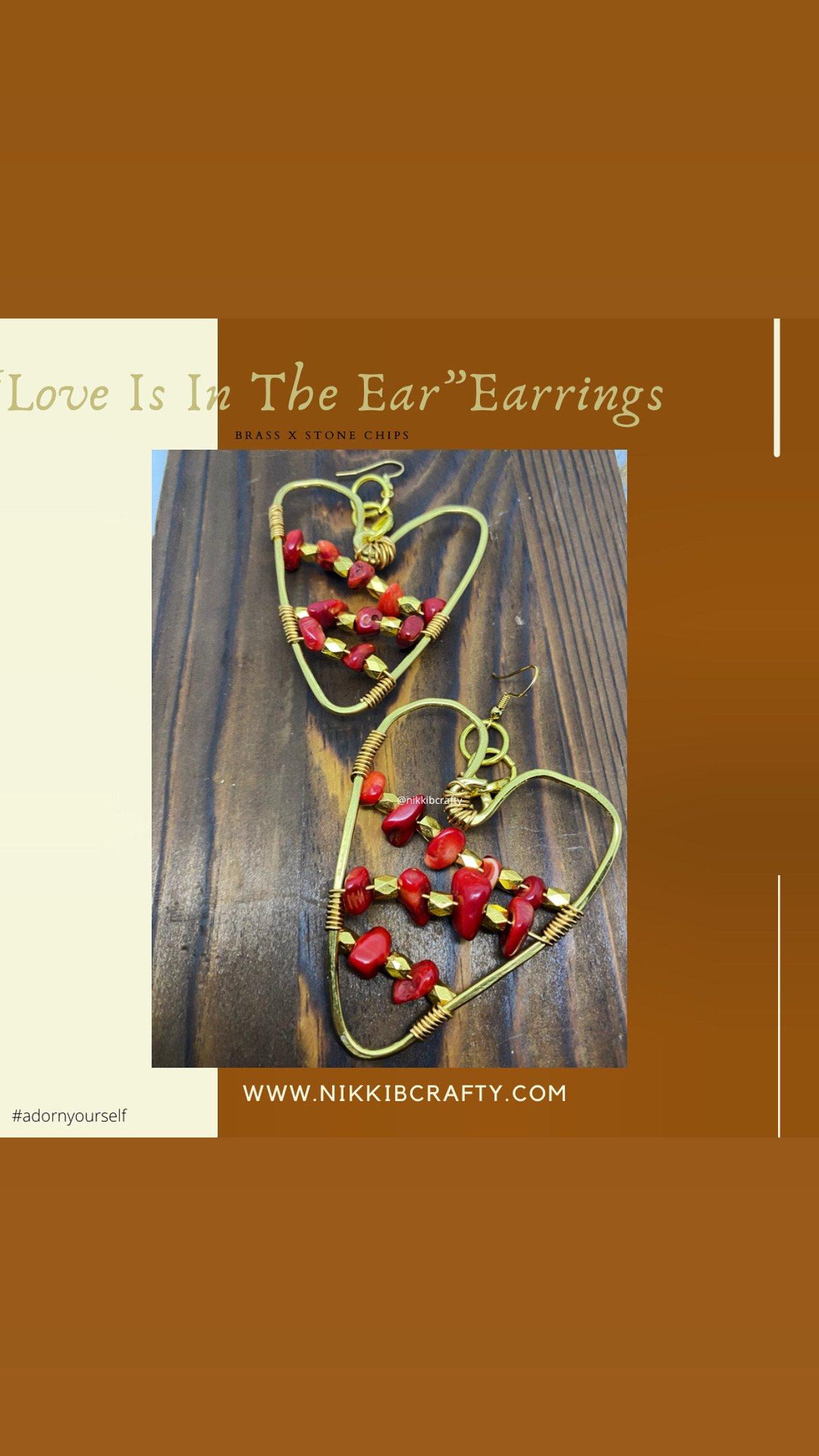 Image of Love is in the ear earrings