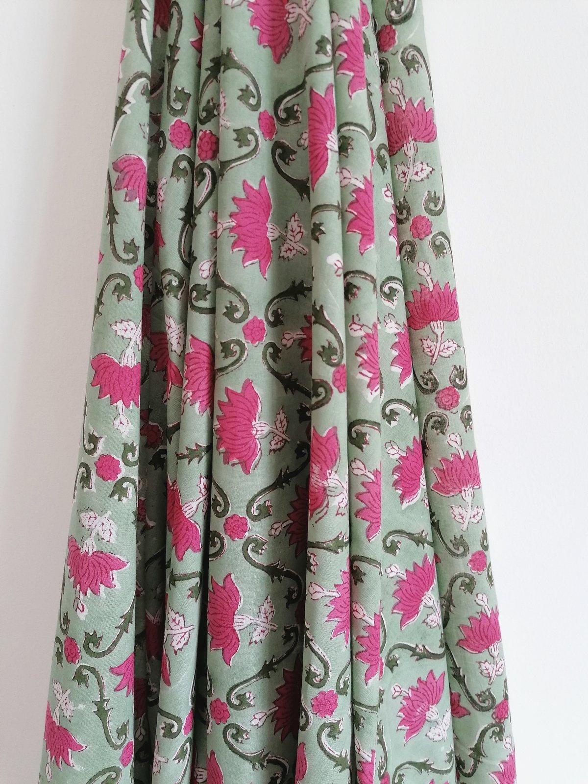 Image of Namasté fabric fleurs de lotus