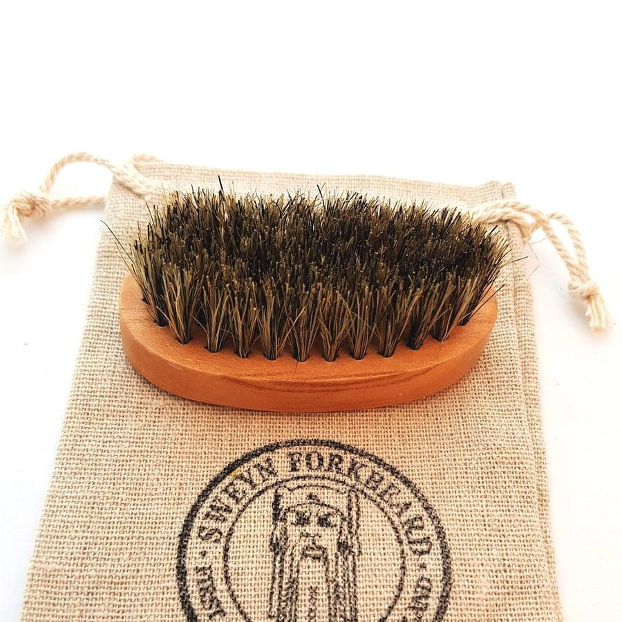 Image of Pocket Beard Brush with Boar Bristle