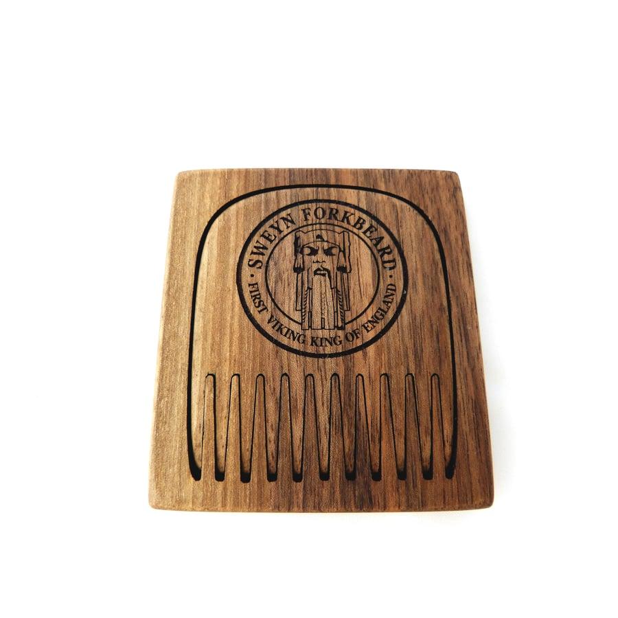 Image of Wooden Comb in a Wooden Case Sweyn Forkbeard