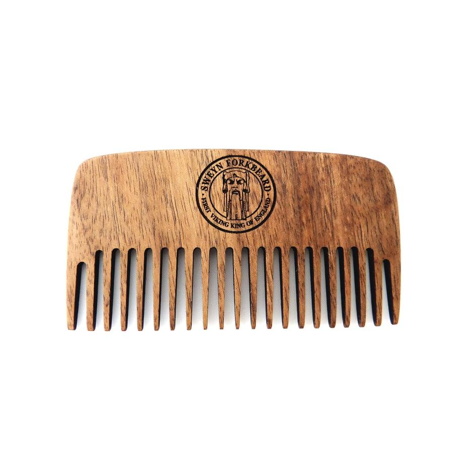 Image of Large Wooden Beard Comb Sweyn Forkbeard