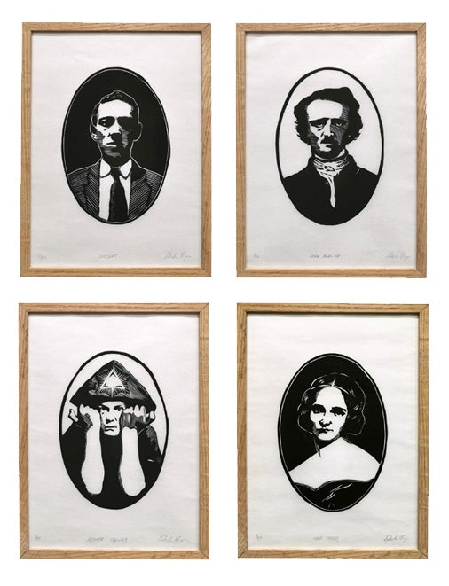 Image of Set of 4: Lovecraft, Poe, Crowley & Shelley