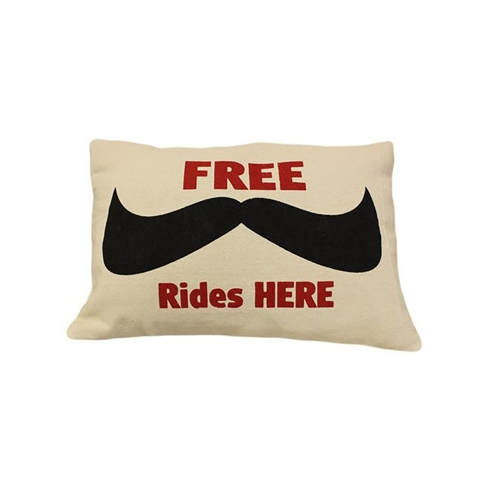 Image of Cushion Cover Free Moustache Rides Here