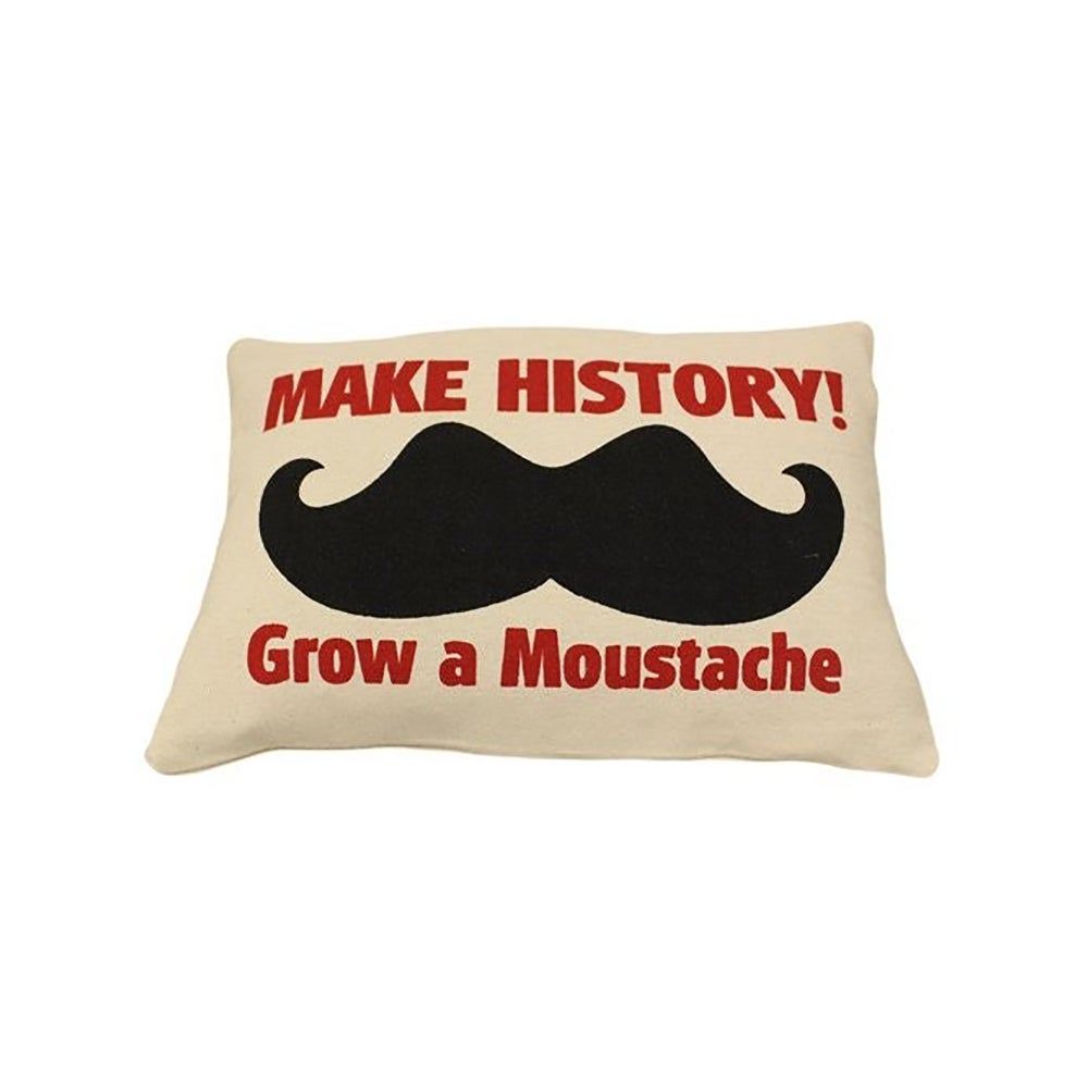 Image of Cushion Cover Make History! Grow a Moustache
