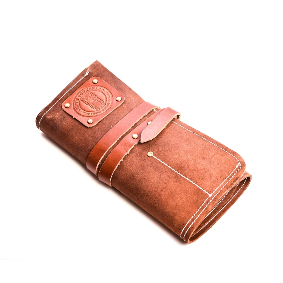 Image of Barber Tool Roll in Leather