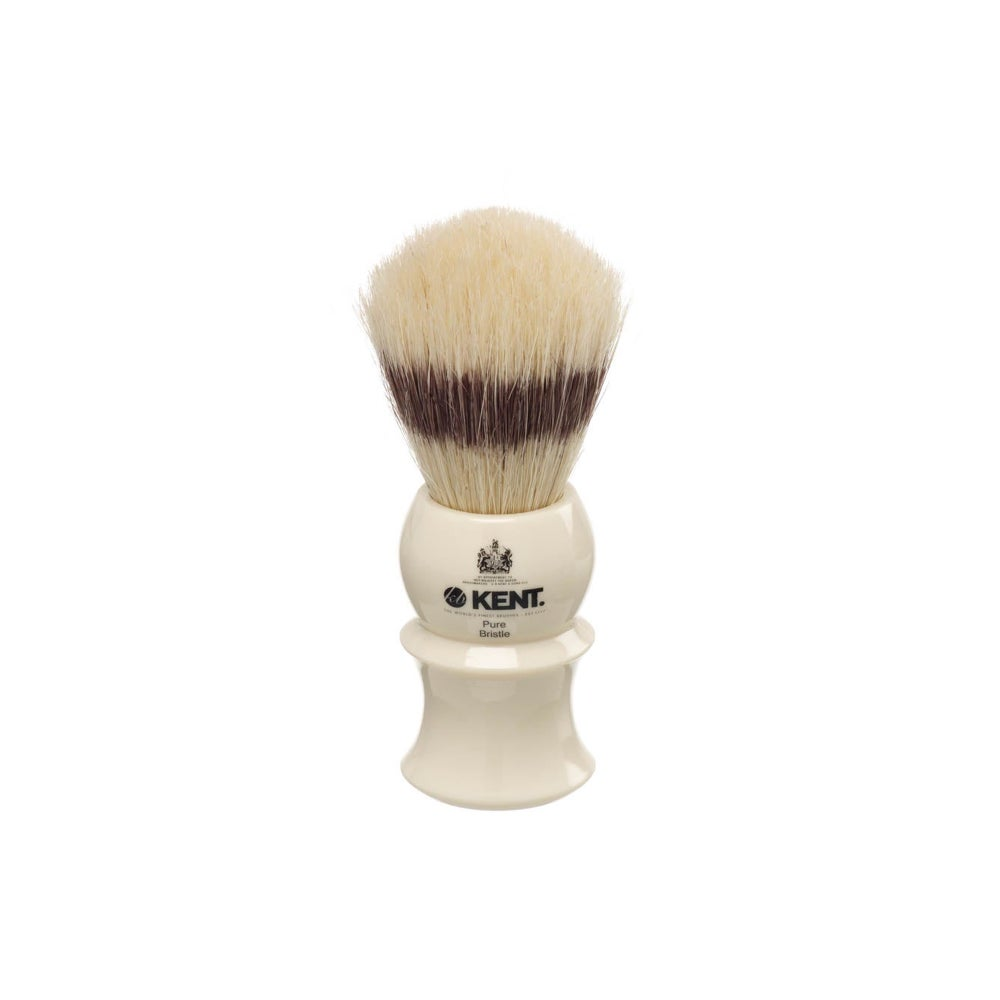 Image of Shaving Brush with Pure Bristle White Ivory