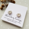 Allium stud earrings