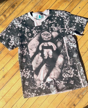 Image of Handheld Abomination Black Floral Tee [All Sizes]