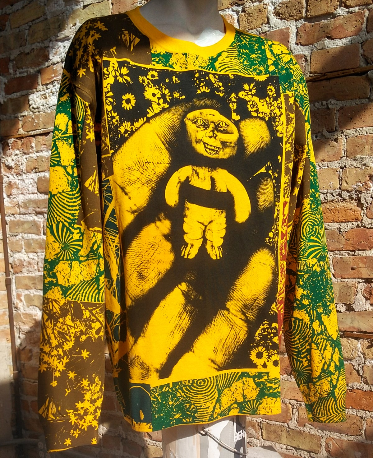 Image of Handheld Abomination Gold Collage Longsleeve [LARGE]