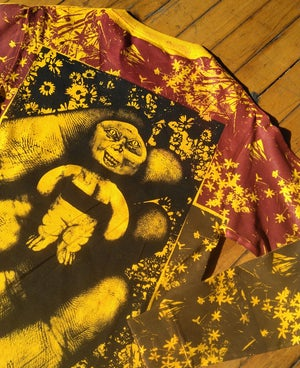 Image of Handheld Abomination Gold Floral Longsleeve [All Sizes]