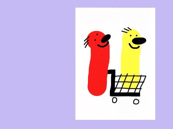 Image of POSTKARTE Shopping