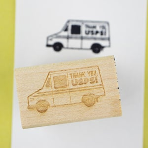 """""""Thank You, USPS!"""" Rubber Stamp"""
