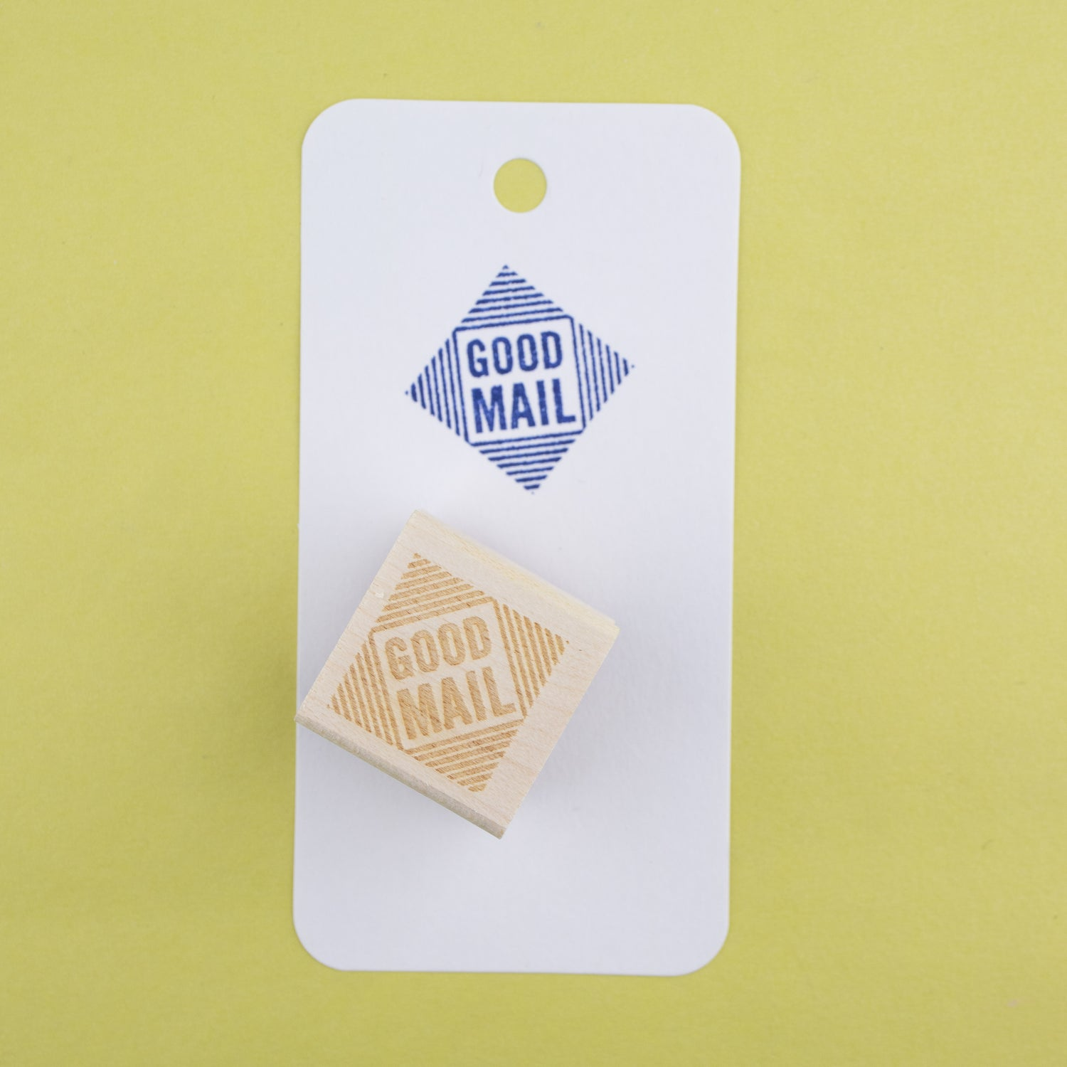 """Good Mail"" Diamond Rubber Stamp"