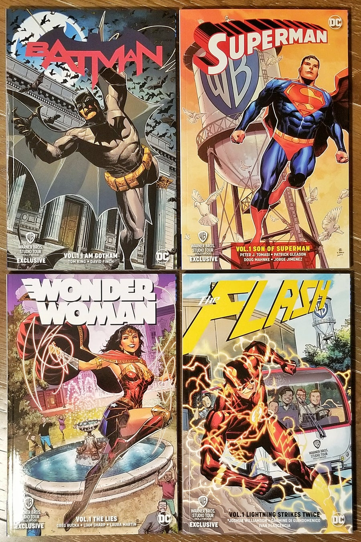 Image of SIGNED COMICS - DC WB STUDIOS TOUR EXCLUSIVE Trade Paperbacks