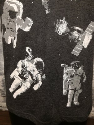 Image of Astronauts in space charcoal grey  t shirt