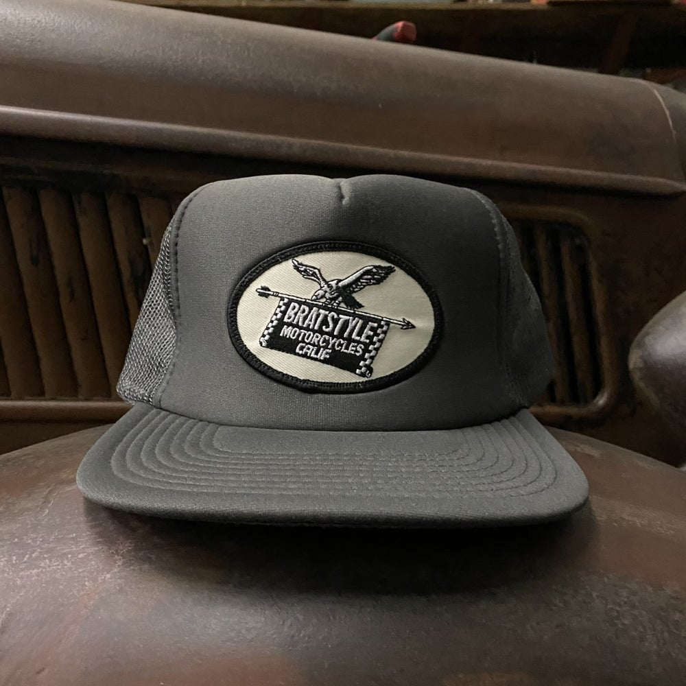 Image of EAGLE TRUCKER HAT w/z patch