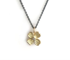 Image of Dogwood Diamond Pendant  Charm