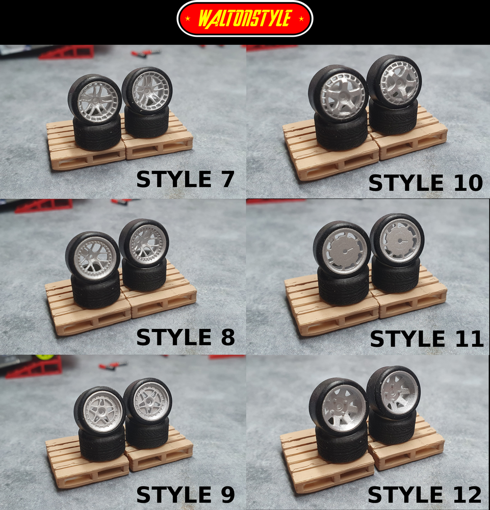 Image of 9mm Resin wheels for hotwheels tyres
