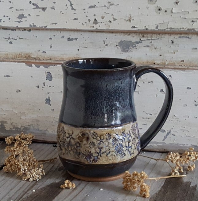 Image of Denim & Wildflowers - Big Hug Mug: Night Sky & Mountain Flower Honey