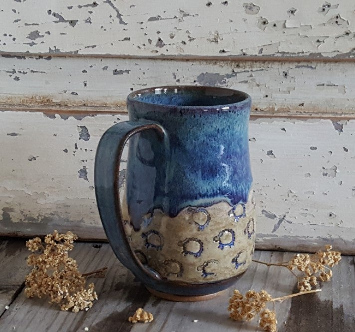 Image of Tiny Sheep Stampede - Big Hug Mug: Lupine (Periwinkle)