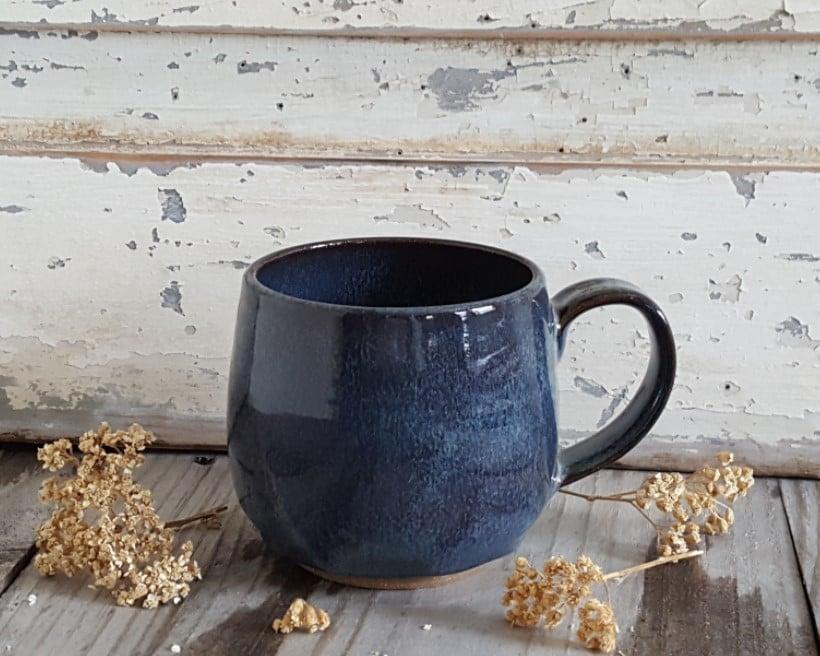 Image of Everyday Globe Mug: Night Sky (Dark Blue)