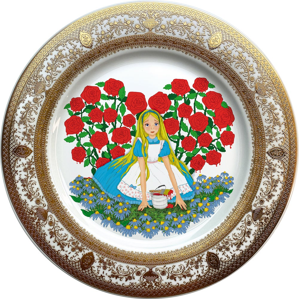 Image of Alice N' Roses - Fine China Plate - #0739