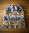 """Kerri Ann"" hand-knitted slouchy hat"