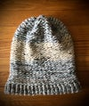 """Lake Erie Beach Glass"" hand-knitted slouchy hat"