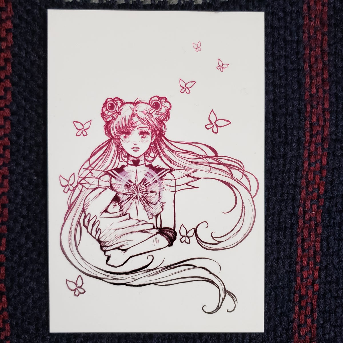 Sailor Moon Butterfly Postcard
