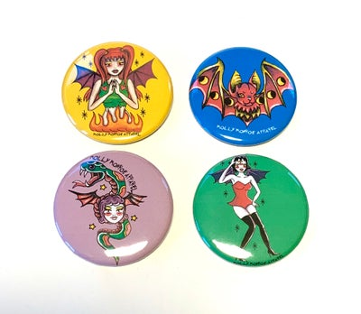 Image of Bat Fairy Button Pack