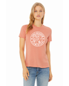 BELLA+CANVAS Women's Relaxed Fit Short Sleeve Tee- Heather Sunset Hare