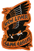 "Image of ""New Liver, Same Eagles"" sticker"