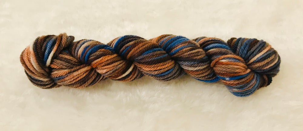 Hand Dyed 8ply Wool Outback and  Ocean Breeze