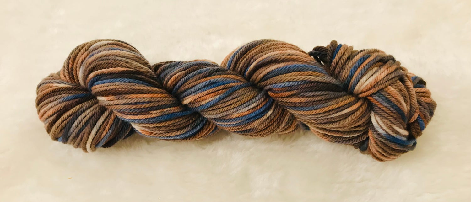 Image of Hand Dyed 8ply Wool Outback and  Ocean Breeze