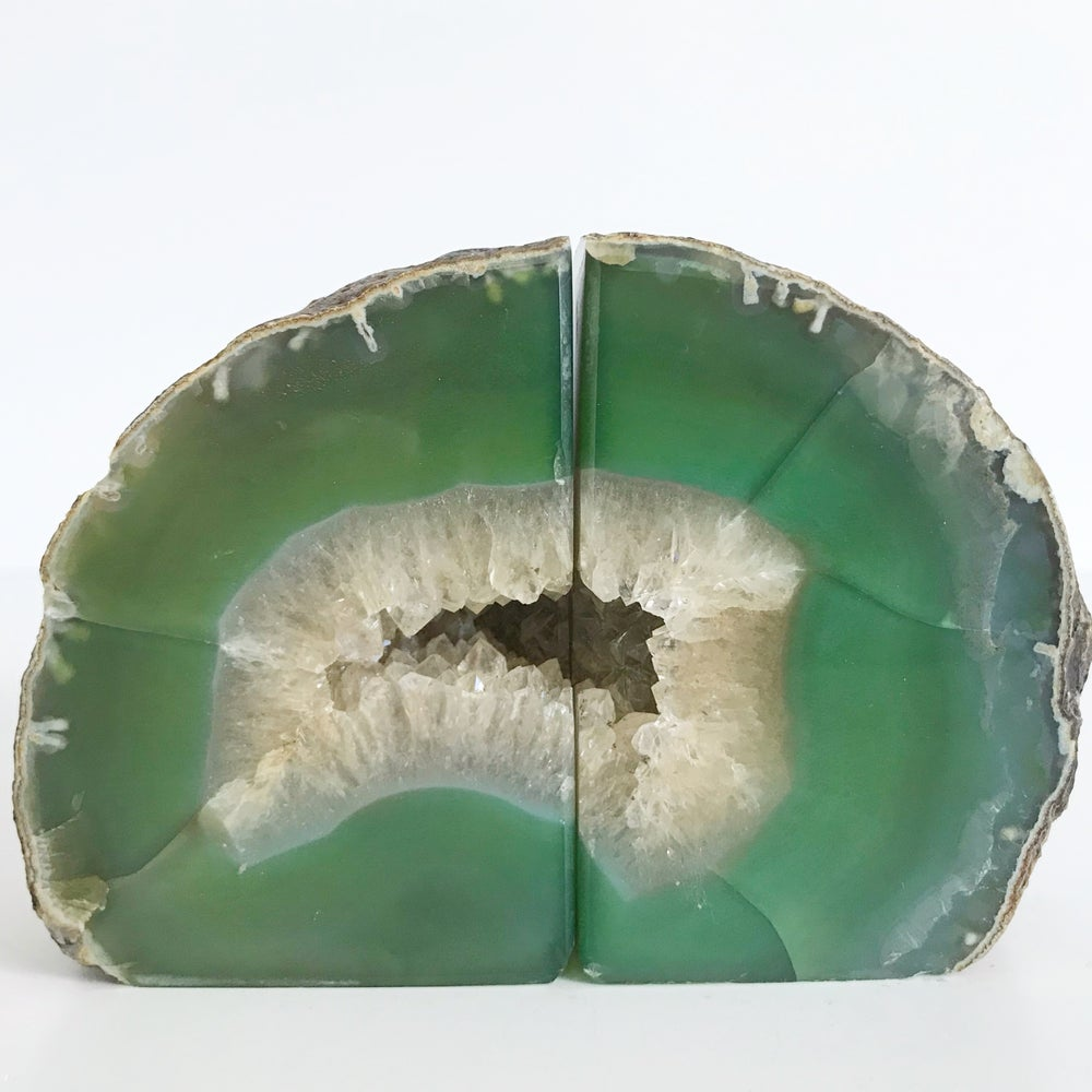 Image of AGATE/QUARTZ BOOKENDS NO.50