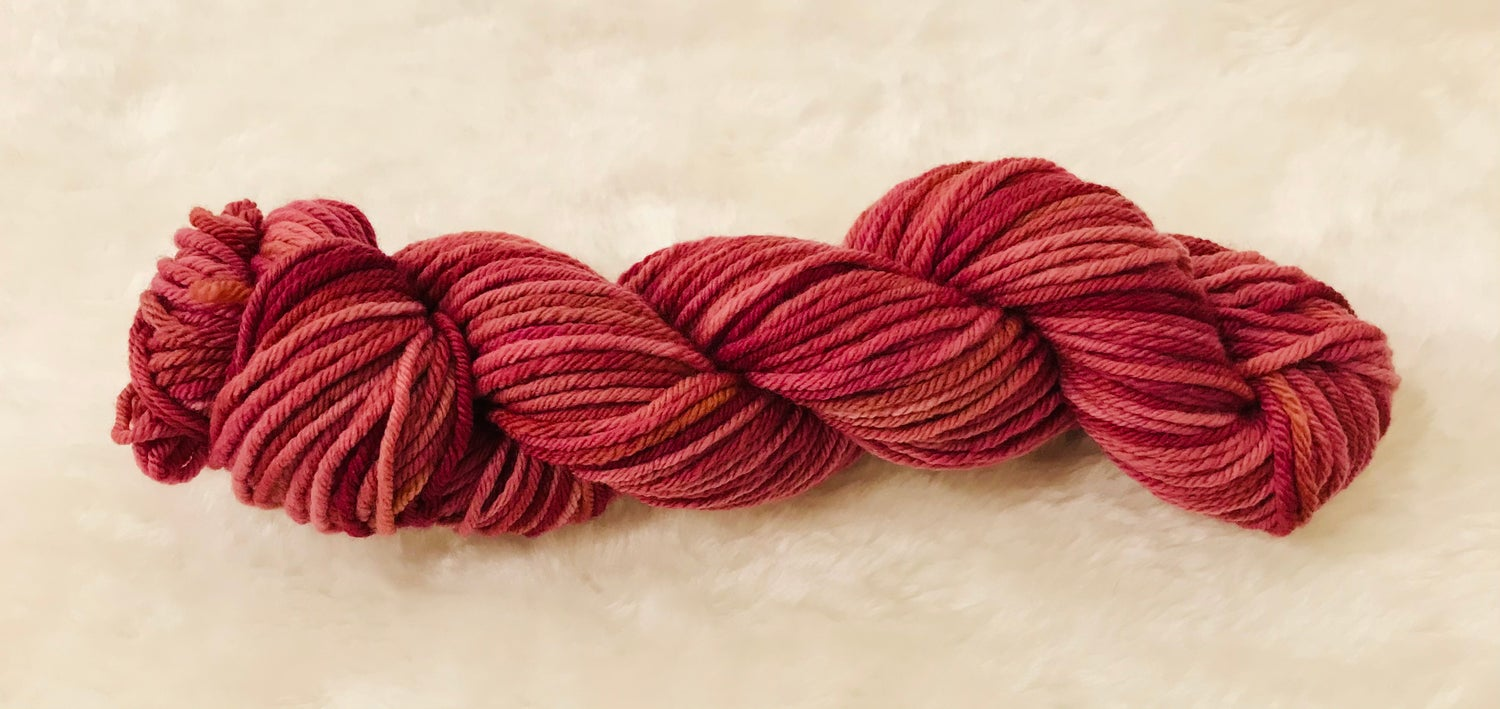 Image of Hand Dyed 8ply Wool Purple Haze and Rusty