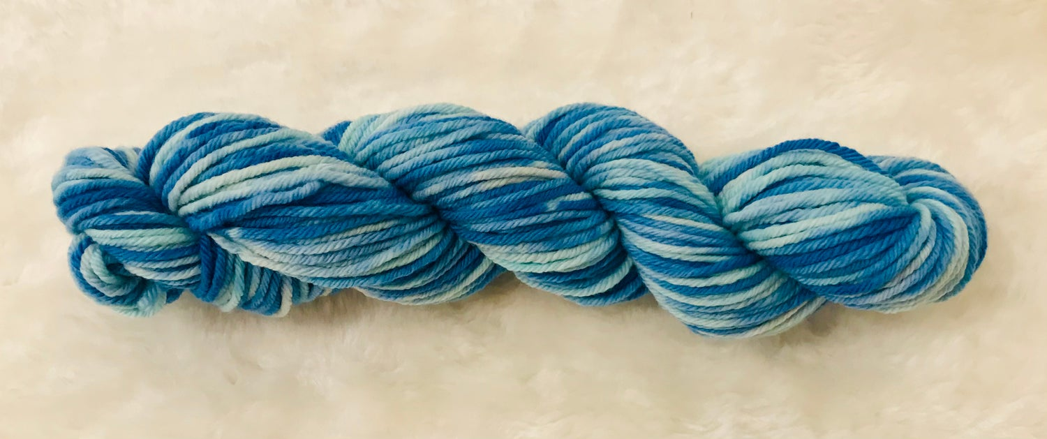 Image of Hand Dyed 8ply Wool Splash and Lemon Delicious