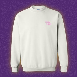 Image of Kissy Kisses Embroidered Crewneck - Pink **PRE ORDER**